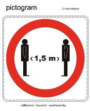XL Corona sticker 1,5 meter afstand