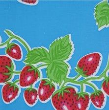 SALE Mexicaans tafelzeil aardbei blauw 110x120cm