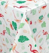 75x140cm Restje tafelzeil flamingo jungle