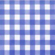 90x140cm Restje tafelzeil grote ruit blauw