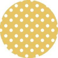 Rond tafelzeil stippen geel (140cm)