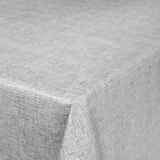 Rond tafelzeil linnux grijs (140cm)