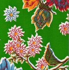 Ovaal Mexicaans tafelzeil chrysant groen