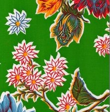 Rond Mexicaans tafelzeil chrysant groen (120cm)