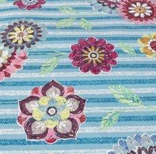 SALE tafelzeil passiebloem blauw 135x140cm