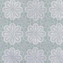 35x140 Restje tafelzeil vintage bloemen blauw/groen