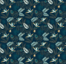 35x140 Restje tafelzeil paradijsvogelbloemen