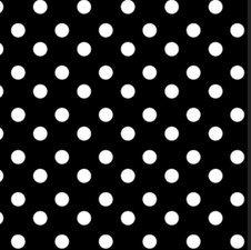 SALE tafelzeil polkadot stippen zwart 135x140cm