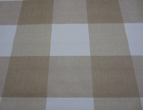 Rond tafelzeil blokken bruin/beige(140cm)