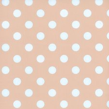 Rond tafelzeil roze met witte stippen (140cm)