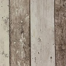 30x140cm Restje tafelzeil steigerhout bruin/beige