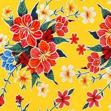 SALE Mexicaans tafelzeil ruitjes geel 190x120cm