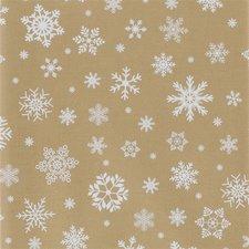 Kerst tafelzeil goud 140x250cm