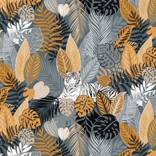 Tafelzeil tijger jungle oranje