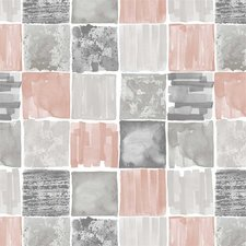 Ovaal tafelzeil old painted pink/grey
