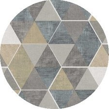SALE Rond tafelzeil abstracte honingraat 140cm