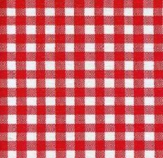Ovaal Mexicaans tafelzeil ruitjes rood