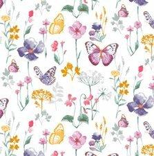 SALE tafelzeil vrolijke vlinders 115x140cm
