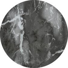 Rond tafelzeil donker marmer  (140 cm)