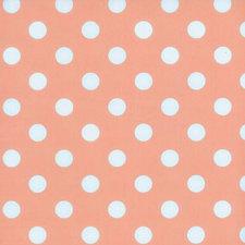 Ovaal tafelzeil roze met witte stippen