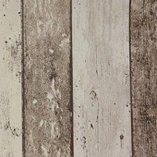 50x140cm Restje tafelzeil steigerhout bruin/beige