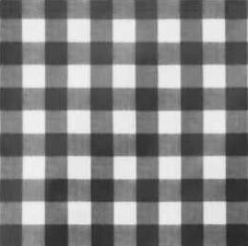 40x140cm Restje tafelzeil grote ruit zwart
