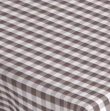 SALE tafelzeil grote ruit grijs/taupe 170x140cm