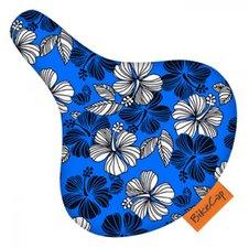 Zadelhoesje Bikecap bloemen blauw