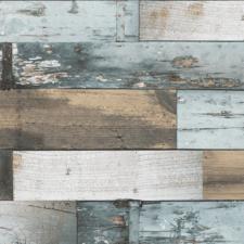 Groot rond tafelzeil Woody blauw (160cm)
