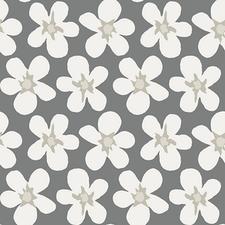 SALE tafelzeil big flower grijs/wit 105x140cm