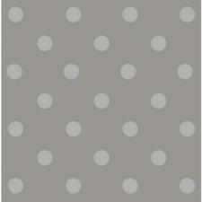 Rond tafelzeil stippen lichtgrijs/beige Paty (140cm)