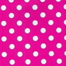 Tafelzeil roze met witte stippen