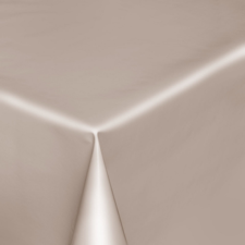 Rond tafelzeil beige/grijs effen glans(140cm)