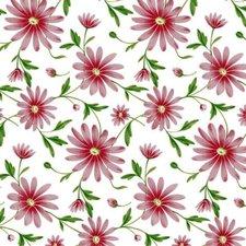 Doorzichtig tafelzeil Margriet rood