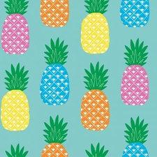 SALE Tafelzeil Pina ananas op mint 250x140cm
