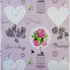 SALE tafelzeil vogelkooi roze 100x140cm