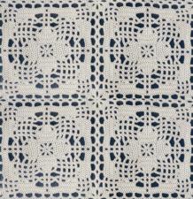 SALE Tafelzeil beige gehaakt patroon 120x140cm