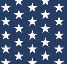 SALE tafelzeil sterren wit op donkerblauw 195x140cm