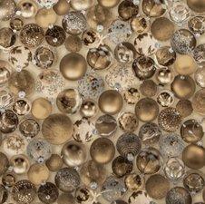 SALE tafelzeil jingle balls goud 105x140cm