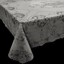 Tafelkleed buiten vinyl grijs 135x180cm