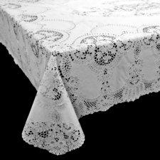 Tafelkleed buiten vinyl wit 152x228cm