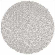 Rond buiten tafelkleed 160cm schuimvinyl kiezels khaki (dikke kwaliteit)