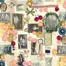 SALE tafelzeil oude fotolijstjes 110x140cm