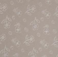 SALE tafelzeillinnen flower sand 140x140cm wasbaar