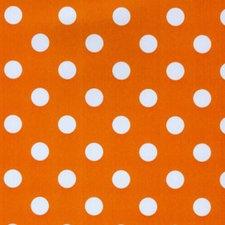 Rond tafelzeil oranje met witte stippen (140cm)