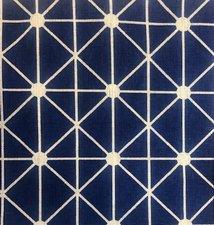 Blauw tafelkleed ruitje 180x130cm
