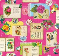 Tafelzeil poetry roze