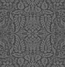 90x140cm Restje tafelzeil ornament antraciet