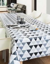35x140 Restje tafelzeil piramide grijs/zwart