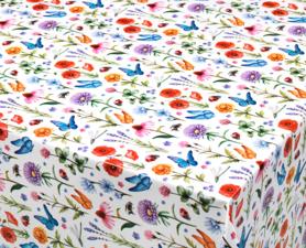 70x140cm Restje tafelzeil lentekriebels